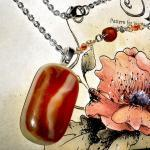 Fused Glass Necklace Sale ..